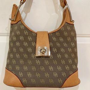 Vintage Dooney & Bourke Shoulder Bag Tan Leather